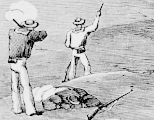 Sketch of battle of Waireka
