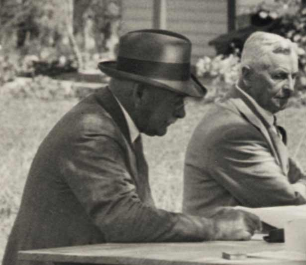 Early meeting of the Waitangi National Trust Board