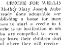 Creche for Wellington, 1903