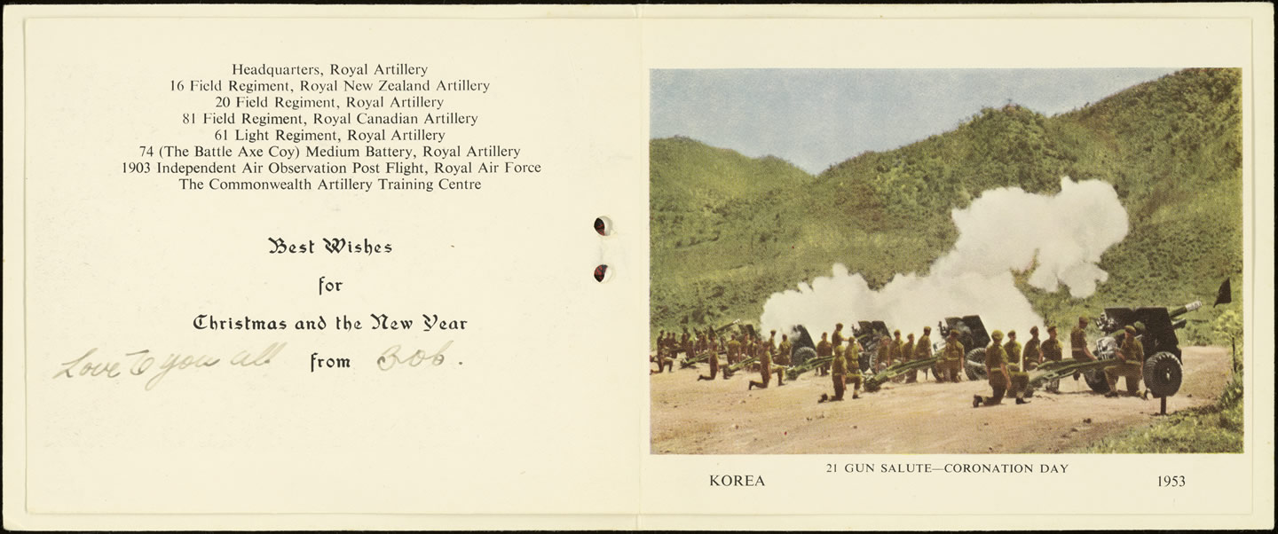 Korean Christmas Card Nzhistory New Zealand History Online
