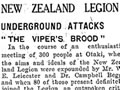 Report of New Zealand Legion meeting