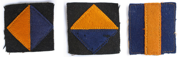 Otago Infantry cloth patches
