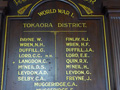 South Taranaki RSA roll of honour boards