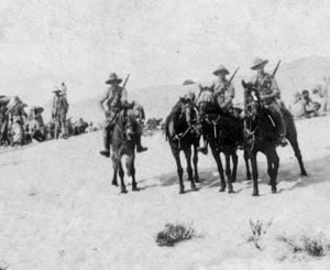 NZ mounted patrol near Romani