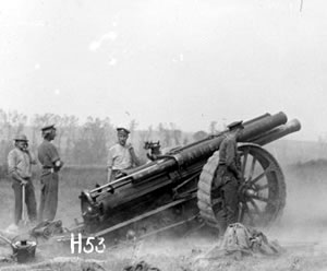 NZ artillery in action at Messines