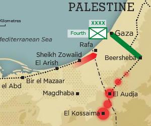 Sinai campaign map