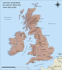 UK of Great Britan and Ireland Map thumbnail
