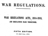 First World War laws and regulations