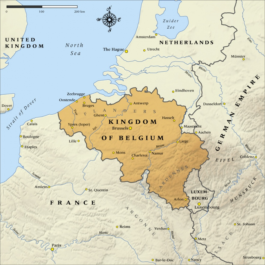 Map of the kingdom of belgium in 1914 nzhistory new zealand map of the kingdom of belgium in 1914 nzhistory new zealand history online gumiabroncs Choice Image