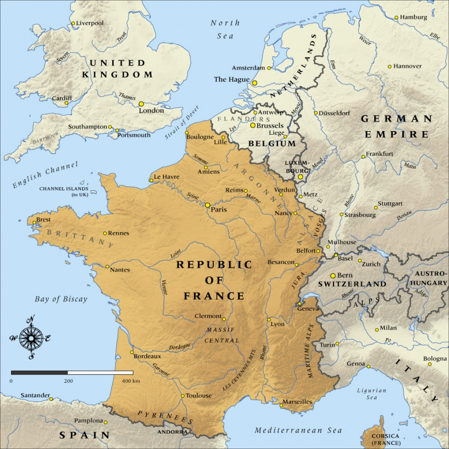 Map of the republic of france in 1914 nzhistory new zealand map of the republic of france in 1914 nzhistory new zealand history online gumiabroncs Choice Image