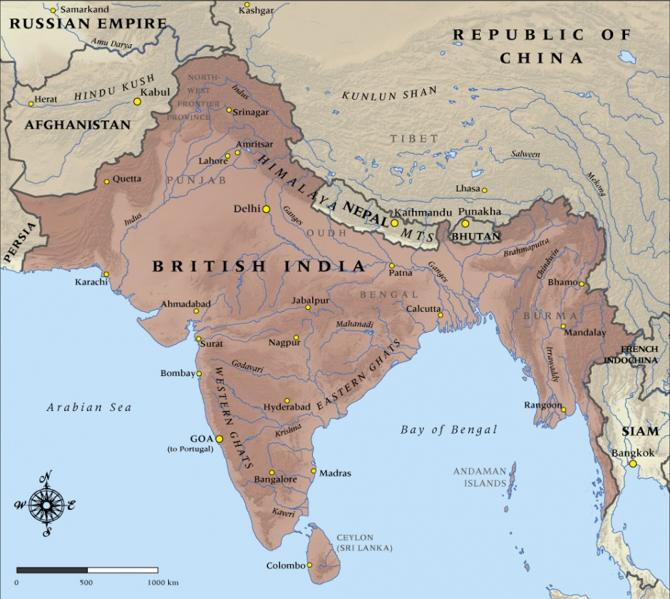 Map of british india in 1914 nzhistory new zealand history online gumiabroncs