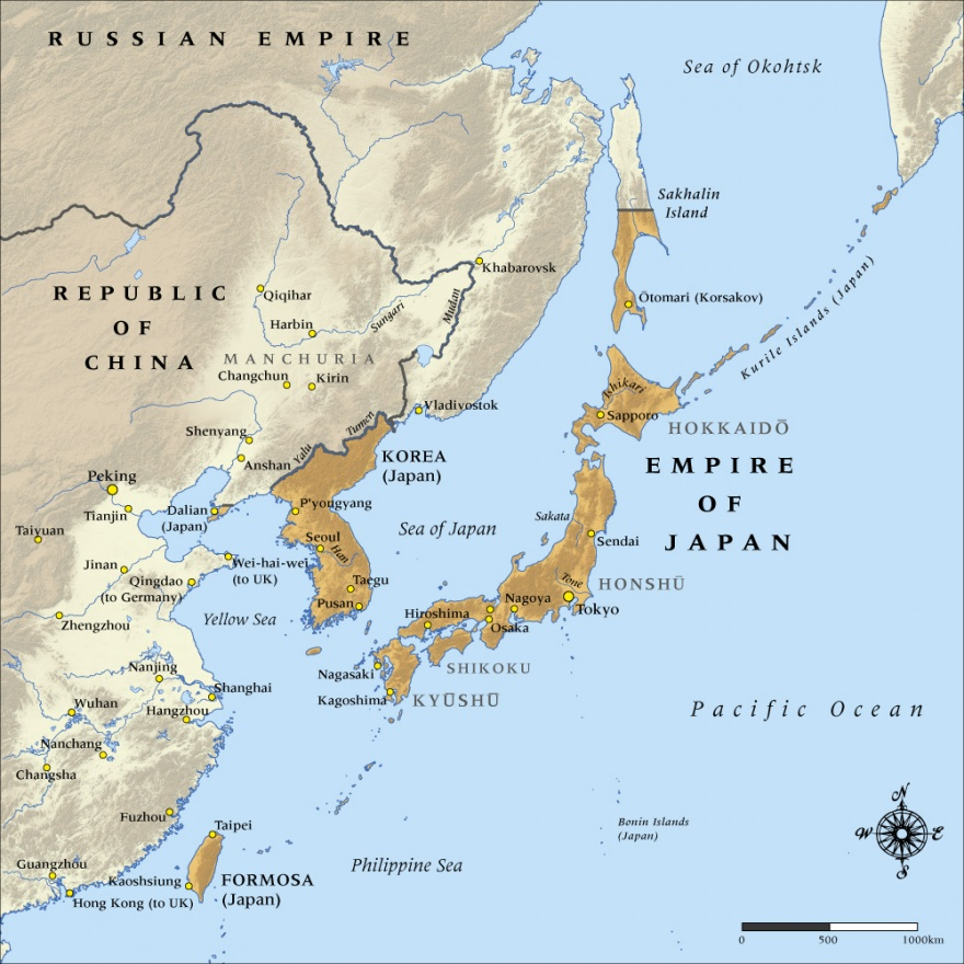 Map Of The Empire Of Japan In NZHistory New Zealand - Map japan