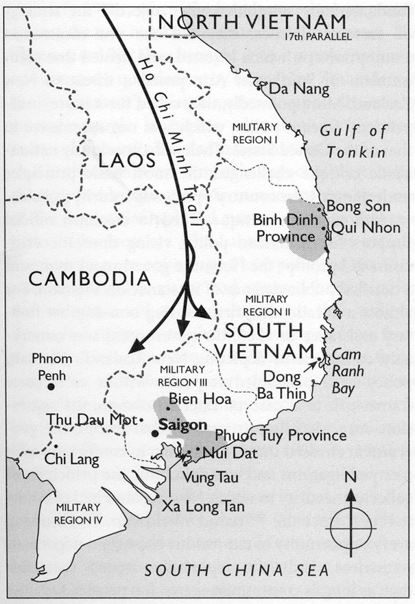Map Of Asia During Vietnam War.Vietnam War Map Nzhistory New Zealand History Online