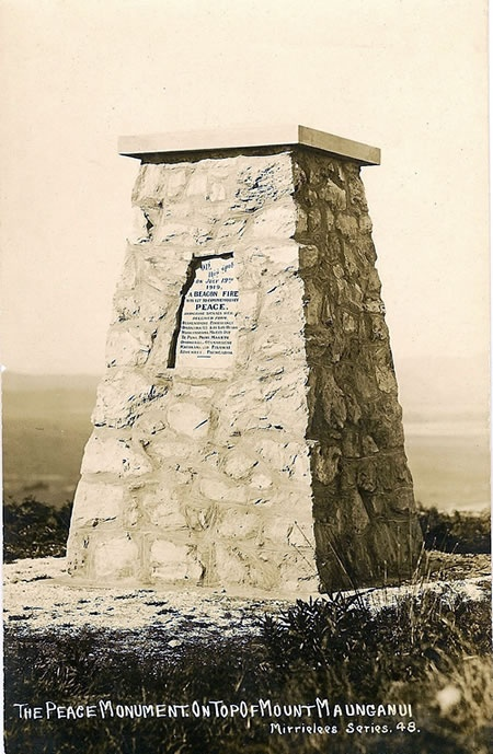 Memorial to beacon fires, Mt Maunganui - Ministry for Culture and Heritage
