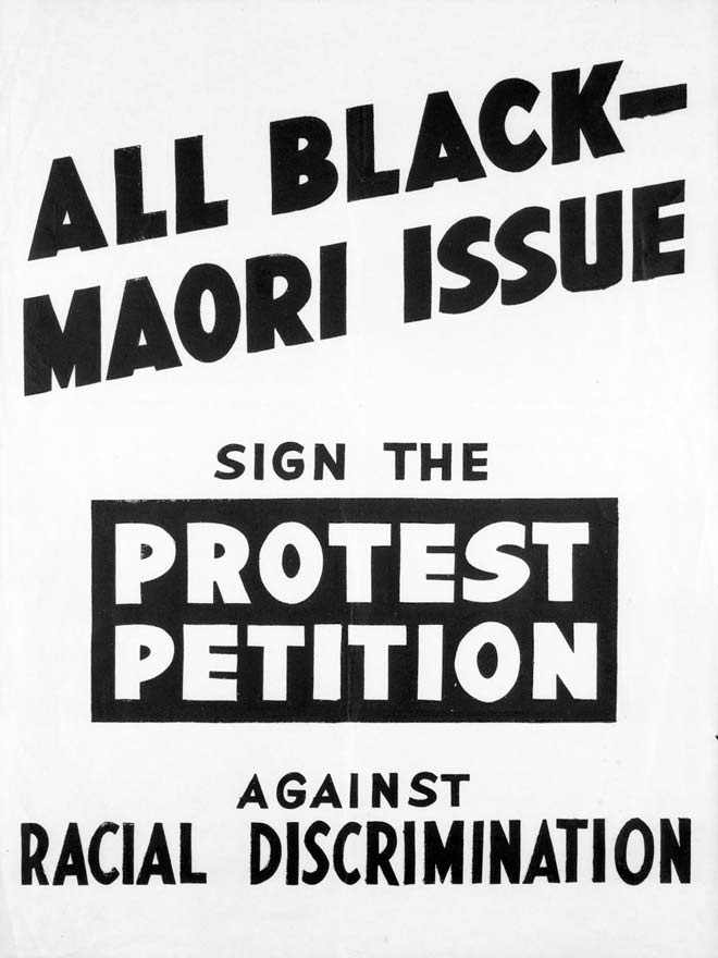All black maori protest poster nzhistory new zealand history online