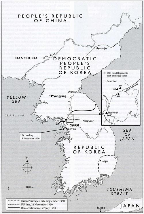 Korean War Map NZHistory New Zealand History Online - Blank world map 1950