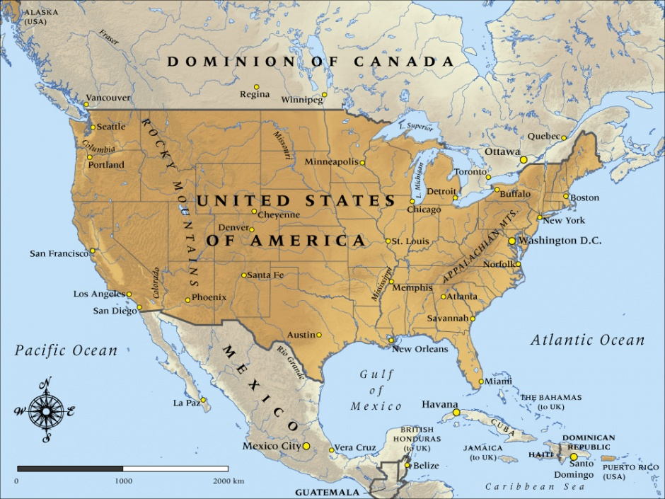 Map Of The United States Picture.Map Of United States Of America In 1917 Nzhistory New Zealand