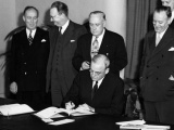 ANZUS treaty comes into force