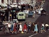 Auckland pedestrians begin 'Barnes Dance'