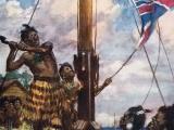 Hōne Heke cuts down the British flagstaff -  again