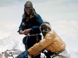 Hillary and Tenzing reach summit of Everest