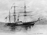 The <em>Acheron</em> arrives to survey New Zealand waters
