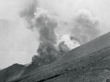 Mount Tongariro erupts