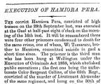 Hamiora Pere executed for treason