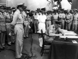 Air Vice-Marshal Isitt accepts Japanese surrender