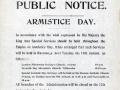 Cook Islands Armistice Day notice