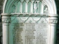 Christ Church First World War memorial tablet