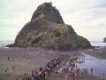Lion Rock, Piha war memorial