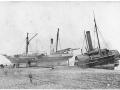 Steamers at Hokitika, 1866