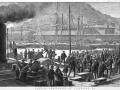 Immigrants landing at Lyttelton