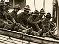 Reinforcements aboard <em>Willochra</em>, 1914