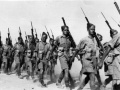 2 NZEF Infantry marching into Egypt