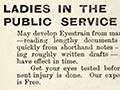 Female public servant advertisment