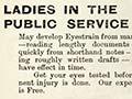 'Ladies in the public service'