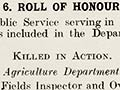 Roll of honour in <em>Public Service Official Circular</em>