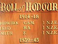 Animal Research Station roll of honour board