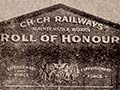 Christchurch railway workshops roll of honour board