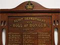 Audit Department roll of honour board