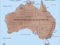 Map of the Commonwealth of Australia in 1914