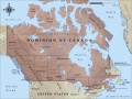 Map of Canada in 1914