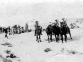 Mounted patrol at railhead