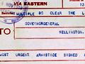 Armistice signed telegram