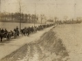 Artillery on the march on the Western Front