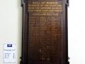 Auckland NZ railways roll of honour board