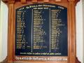 Balfour school Roll of Honour board