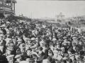 Strikers' meeting, Basin Reserve, 1913